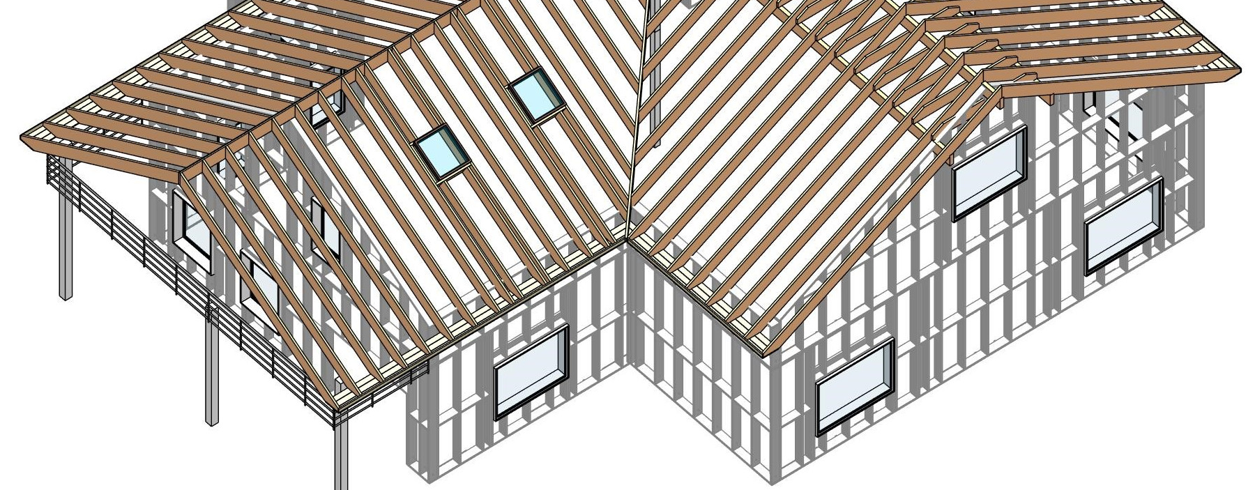 Wood Framing Wall And Wood Framing Roof For Revit 2019 Is